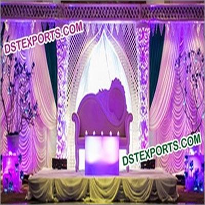 Latest Indian Wedding Flower Pillar Stage