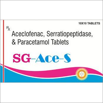 Aceclofenac Serratiopeptidase Paracetamol Tablets