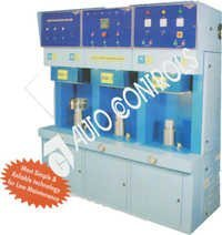 Three head induction brazing machine.