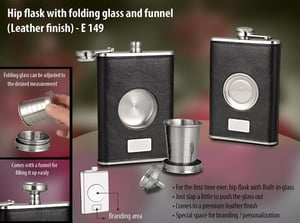 Hip Flask - leather Finish