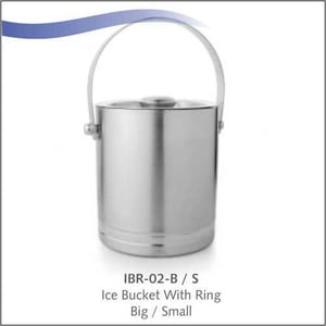Stainless steel Ice Bucket with Ring (Big)