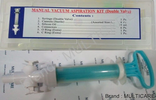 Manual Vacuum Aspiration Kit Non Auotclavable