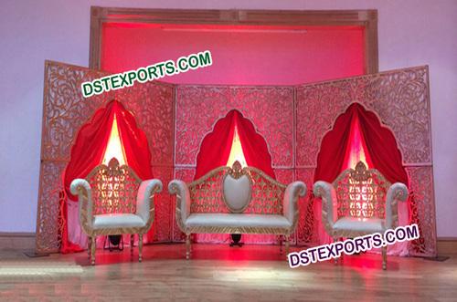 Muslim Wedding Carved Stage Backdrop Panels