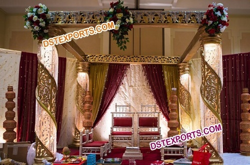 Latest Wedding FRP Crystal Mandap/Pagoda Mandap