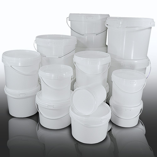 White Plastic Buckets