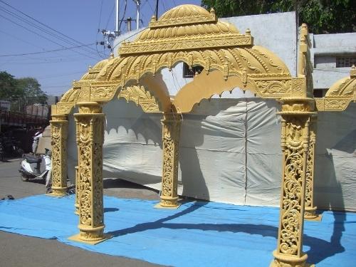 Wooden Carved Mandir Mandap