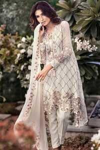 White Satoon Material Suit