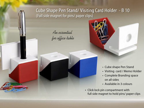 Cube Shaped Pen Stand