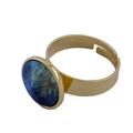 Designer 24k gold plated cocktail ring
