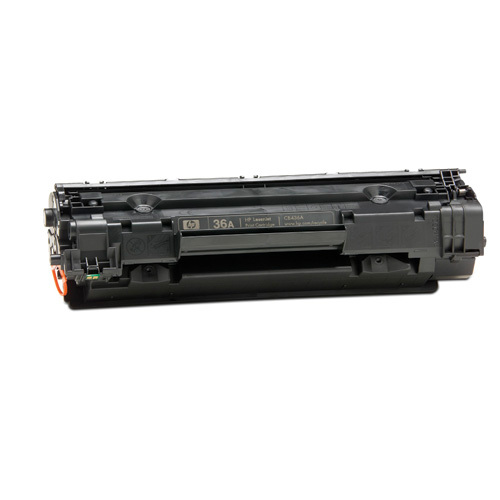 HP 36A Black Original LaserJet Toner Cartridge (CB436A)