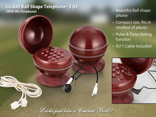 Cricket Ball Shaped Telephone