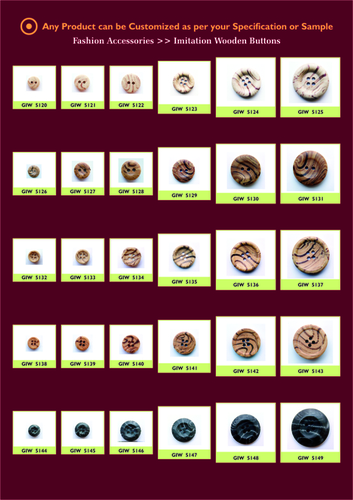 Imitation Wooden Buttons