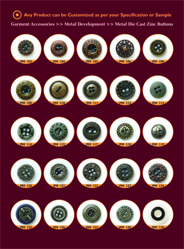 Metal Alloy Buttons
