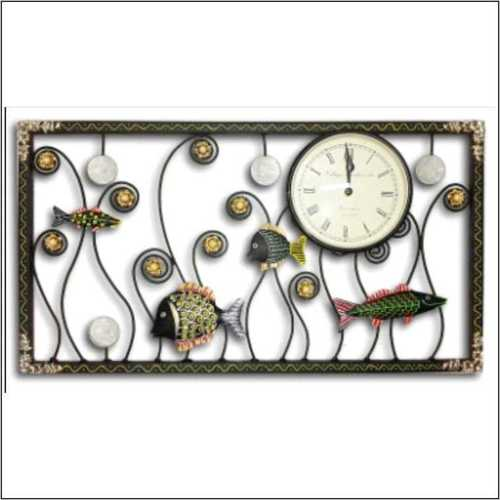 Rectangle Clock Fish Design