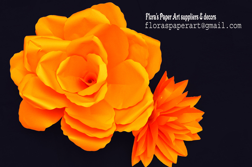 Personalized Paper Flower Backdrops