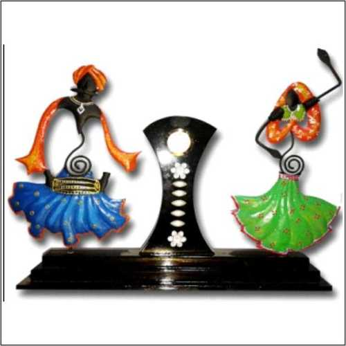Rajasthani Male - Female Pair with Clock
