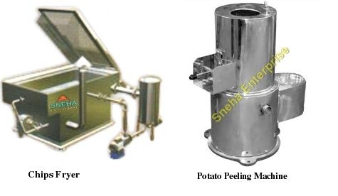 Chip Fryer and Potato Peeling Machine