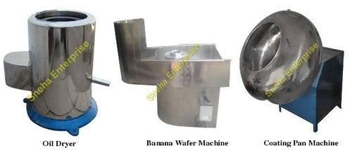 Oil Dryer & Banana Wafer Machine & Coating Pan