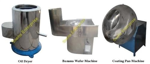Oil Dryer & Banana Wafer Machine & Coating Pan