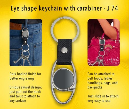 Eye Shape Keychain with Carabiner