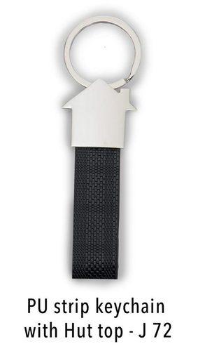 PU strip keychain with Hut Top