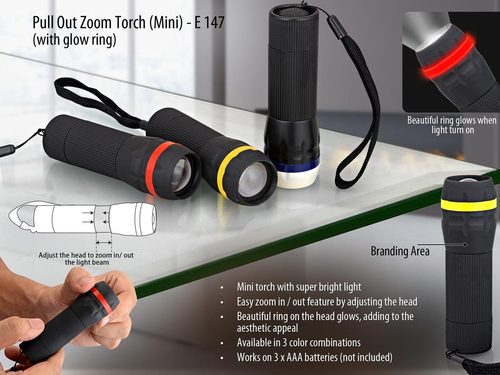 Pull out Focus torch (mini) (1 watt LED)
