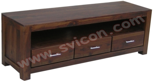 Wooden Entertainment Unit 3 Drawers