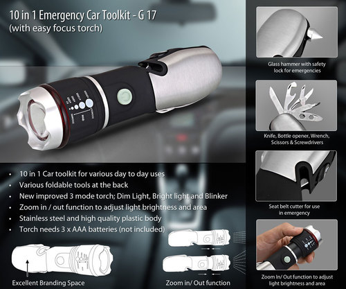10 in 1 Emergency Car Toolkit