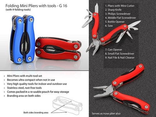 Folding Mini Pliers with 9 tools (superior quality