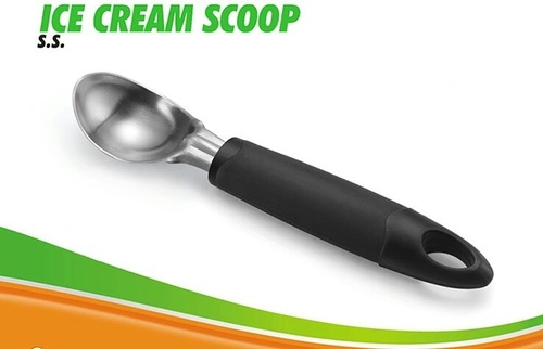 S S ICE CREAM SCOOP WITH SOFT GRIP HANDDLE