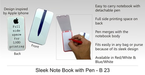 Sleek Note Book with Pen