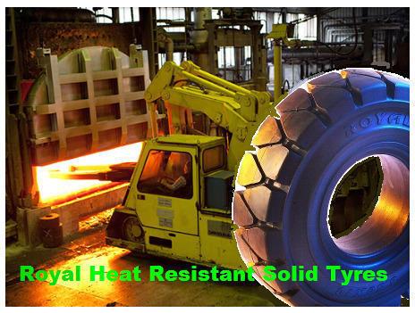 Heat Resistant Solid Tyres