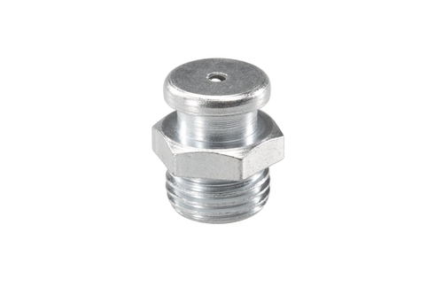 Button Head Flat Brass Grease Nipple