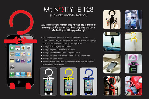 Mr. Notty: Flexible mobile holder (multipurpose)