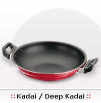 NON-STICK DEEP KADAI WITH S S LID