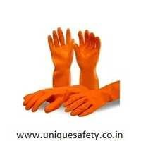 Industrial Orange Rubber Gloves
