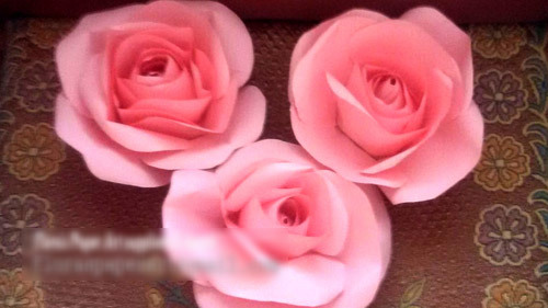 Paper Rose Flowers