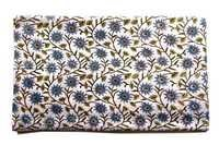 Geometrical Flowery Cotton Fabric Print