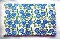 Green & Blue Flower Cotton Fabric