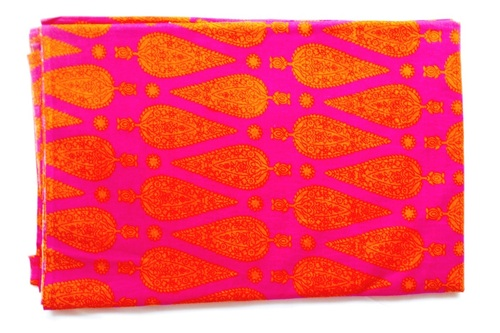 Mughal Cotton Fabric Big Flower