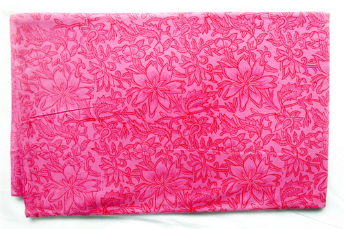 Soft Pink Flowery Cotton Fabric