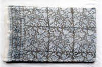 Grey Flowery Cotton Fabric