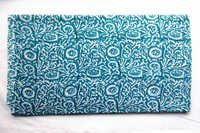 Blue Mughal Cotton Fabric