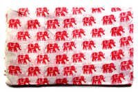 Pink Elephants Cotton Fabric