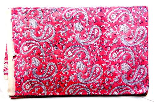 Pink Paisley Cotton Fabric