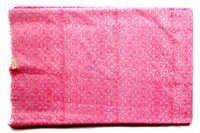 Geometric Pink Cotton Fabric By yard