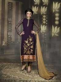 Thankar New Designer Purple Straight Suit