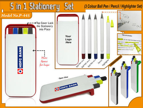 5 in 1 Stationery Set