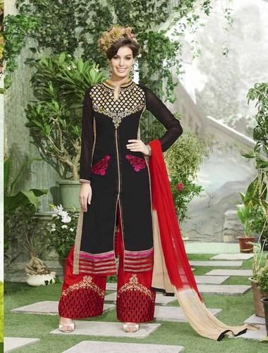 New Designer Black & Red Straight Suit