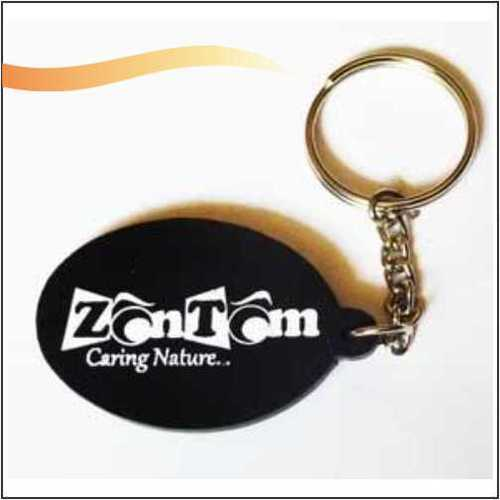 Silicone Key Ring - Oval